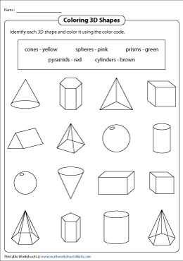 Coloring 3D Shapes