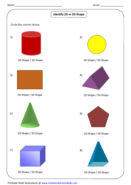Printables 3d Shapes Worksheets For Kindergarten solid 3d shapes worksheets identifying types