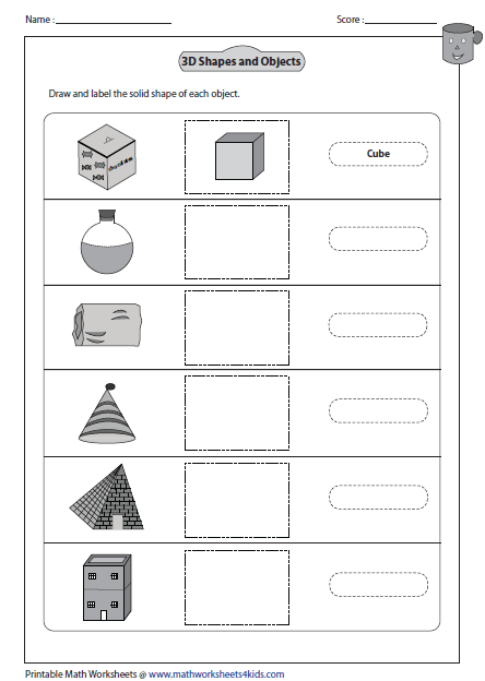 Printables 3d Worksheets solid 3d shapes worksheets labeling and drawing shapes