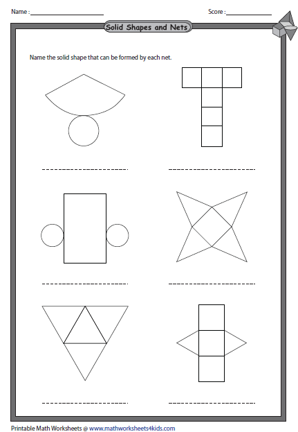 Printable Shape Nets | Activity Shelter