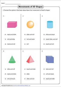 Choosing Correct Movements of 3D Shapes
