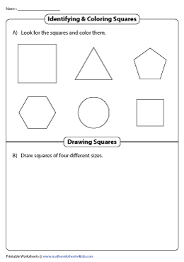 Identifying and Coloring Squares