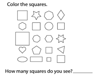 Recognizing and Coloring Squares