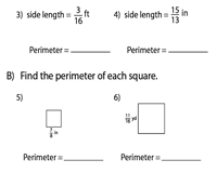 Perimeter of a Square | Fractions