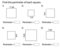 Perimeter of a Square | Integers - Type 1