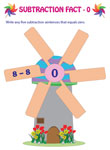 Subtraction Facts: Windmill Theme
