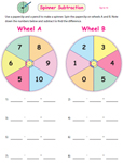Spinner Subtraction Games