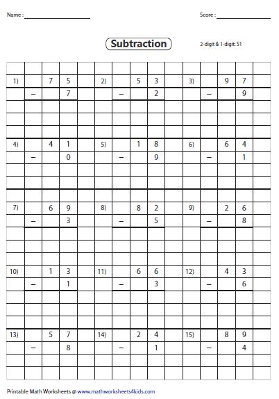 grid subtraction worksheets. Black Bedroom Furniture Sets. Home Design Ideas