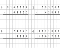 Grid Subtraction: Large Numbers