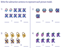 Cross and Write Subtraction Sentences