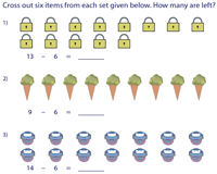 Subtraction Facts 6
