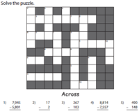 Cross Number Puzzles: Mixed