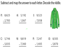 Subtraction Riddle: 4 Digit