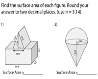 Surface Area of Composite Figures | Cube, Cone, Cylinder, Hemisphere, Prisms, Pyramids