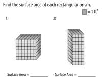 Surface Area of Rectangular Prisms | Unit Squares - Moderate