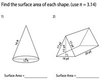 Surface Area of Mixed Shapes | Integers - Easy