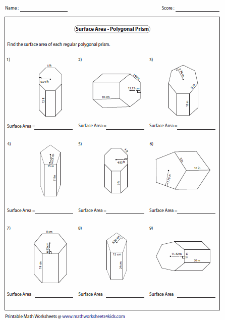 Surface Area Cylinder (solutions, examples, worksheets, videos)