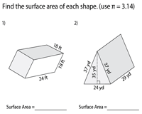 Surface Area of Prisms and Cylinders - Level 1 | Integers - Moderate