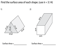 Surface Area of Prisms and Cylinders - Level 2 | Integers - Moderate