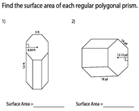 Surface Area of Polygonal Prisms