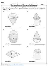 Surface Area - Composite Figures