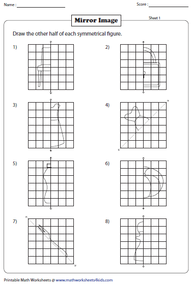 math worksheet : symmetry worksheets : Symmetry Math Worksheets