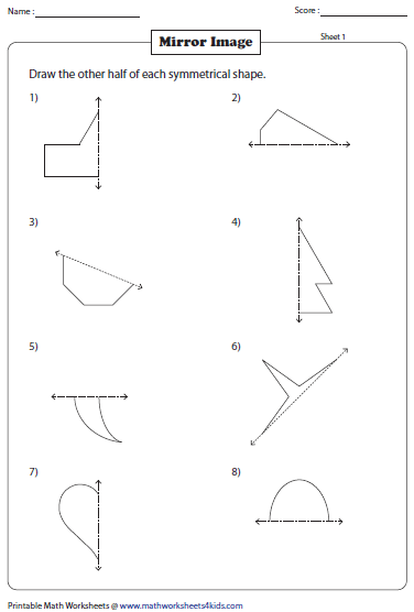 Drawing Lines Maths : Maths symmetry worksheets excel math valentine