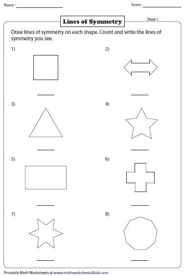 Drawing Lines Of Symmetry Worksheet : Symmetry worksheets