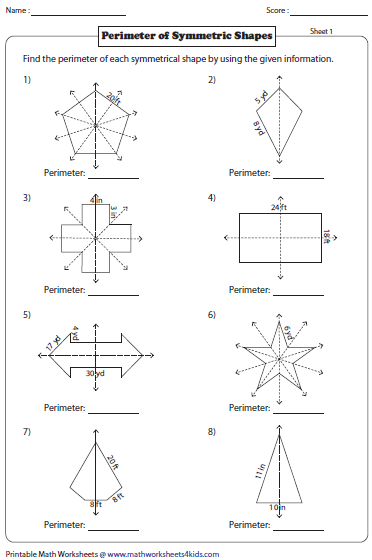 Printables Symmetry Worksheets symmetry worksheets perimeter of shapes