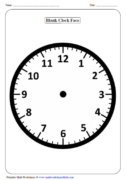 Worksheet Clock Worksheets clock worksheets and charts blank clock