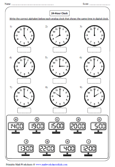 Worksheets Clocks Worksheets clock worksheets and charts comparing clocks