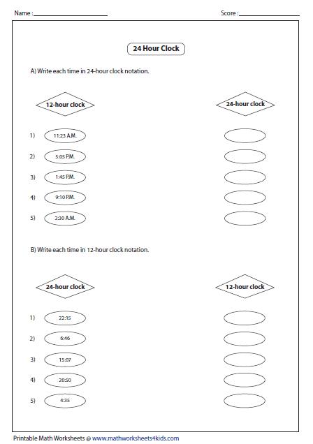 math worksheet : clock worksheets and charts : Math Clock Worksheets