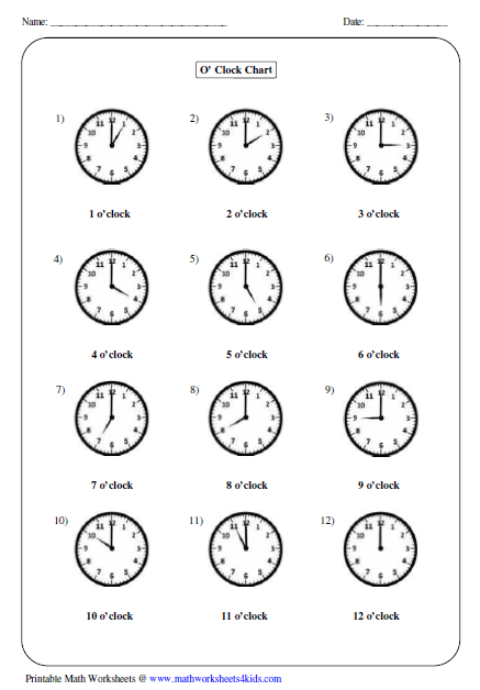 math worksheet : clock worksheets and charts : Clocks Worksheets