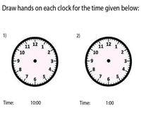 Draw the Hands on the Clock | Hourly Increment
