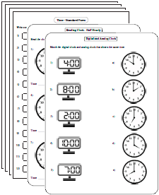 math worksheet : time worksheets : Clock Worksheets For Kindergarten