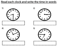 Writing Time with 1-Minute Increments | Analog Clocks