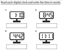 Writing Time with 1-Minute Increments | Digital Clocks