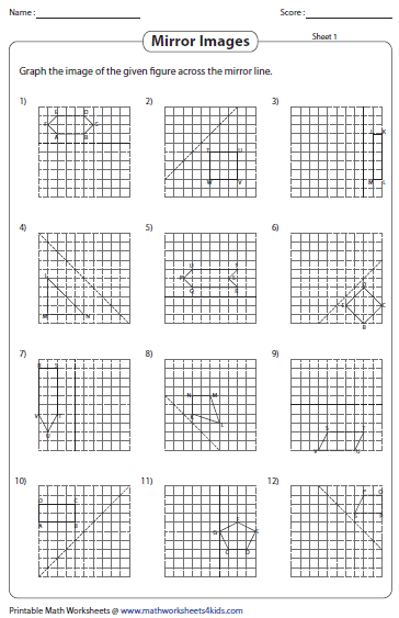 math worksheet : reflection worksheets : Reflection Math Worksheets