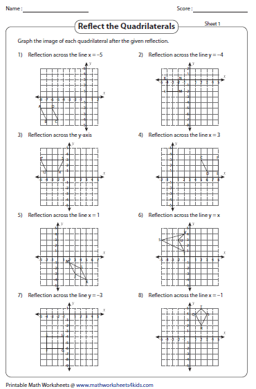 Worksheets Geometry Reflections Worksheet reflection worksheets