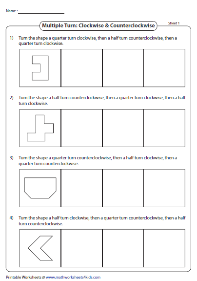 Rotation Worksheets