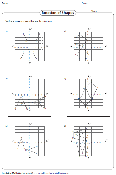 math worksheet : rotation worksheets : Math Transformation Worksheets