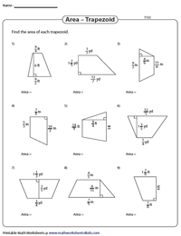 Area of Trapezoids | Fractions