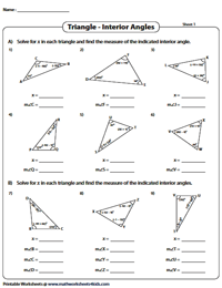 Find the Interior Angles | Solve for 'x'