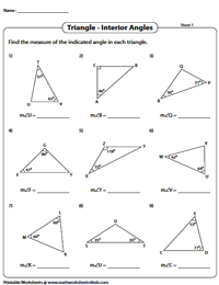 Angle Sum Property and Exterior Angle Theorem | Triangle ...