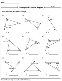 Exterior Angles | Solve for 'x'