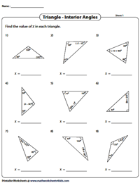 Interior Angles | Solve for 'x'