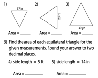 Area of Equilateral Triangles | Integers