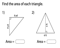 Area of Triangles | Integers - Type 1