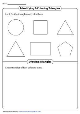 Identifying, Coloring, and Drawing Triangles