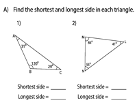 Ordering the sides of a triangle